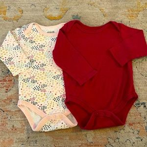 Chick pea 6-9 month girl long sleeve bodysuits